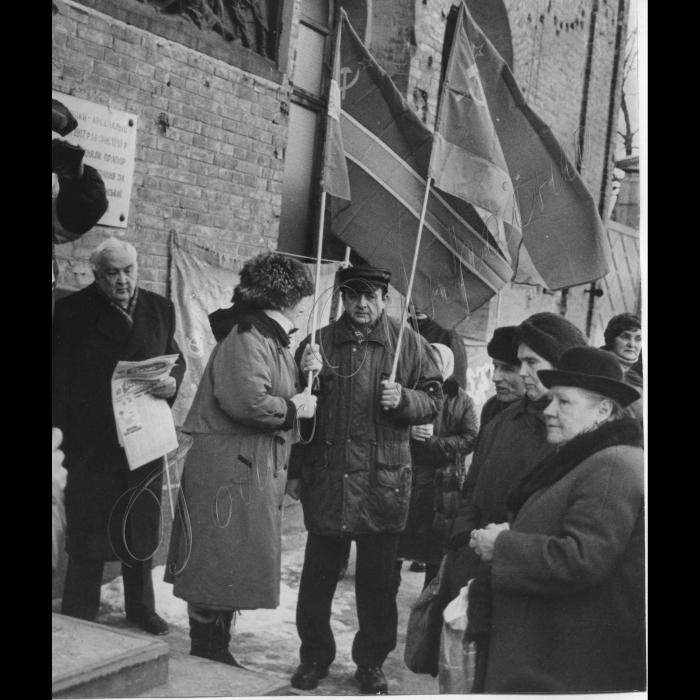 17.03.1999. На Арсенальній площі відбувся мітинг, присвячений 8-й річниці референдуму про збереження СРСР.