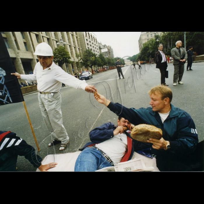 20.07.1999. Пікети шахтарів