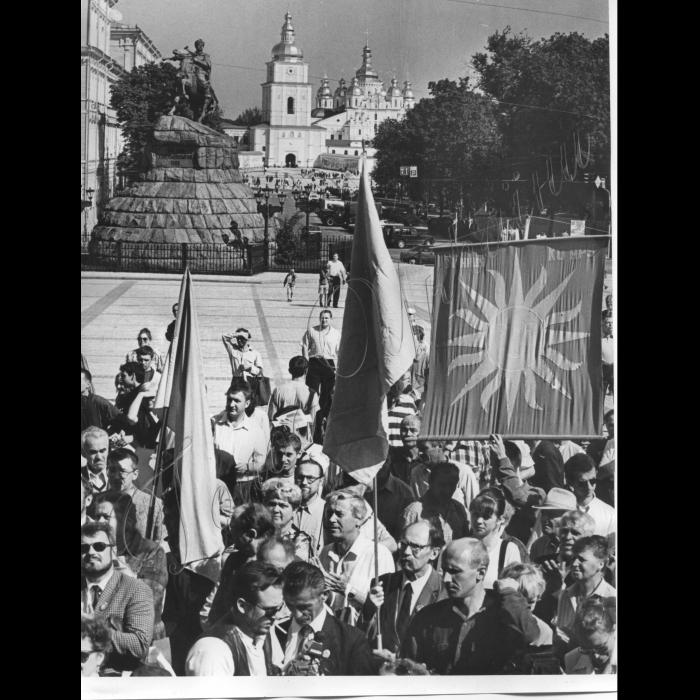 11.09.1999. Руху 10 років. Софіївська площа, Київ.