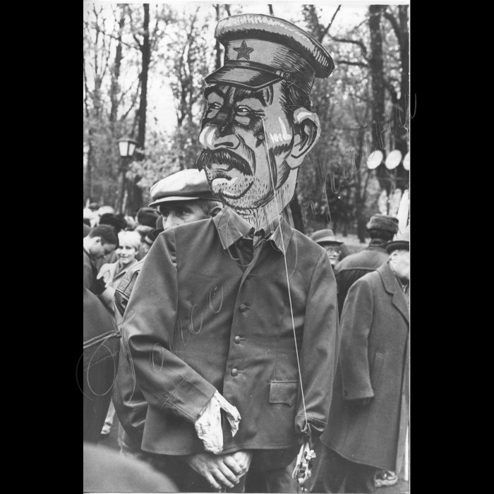 07.11.1999 Річниця Жовтневої революції , карикатура на Сталіна Рух