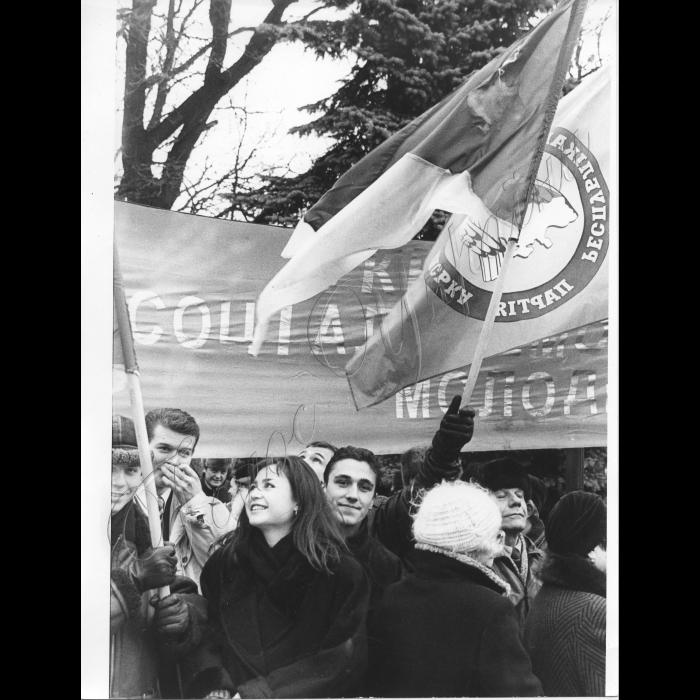 01.12.1999. Мітинг біля ВР на вшанування пам'яті борців за незалежність.