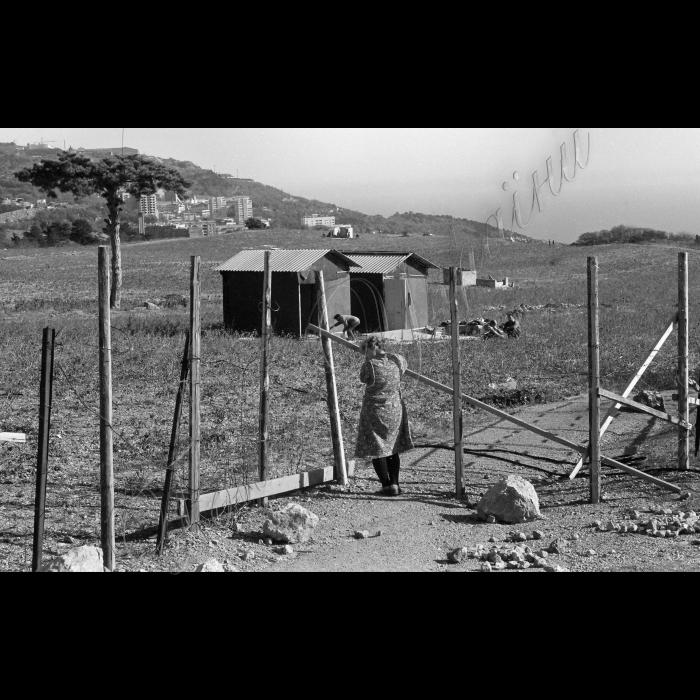 Крим. Гора Самота в районі селища Кореїз. Тут, на занедбаному полі кримські татари, які повернулися з депортації в Узбекистані, почали будувати своє селище