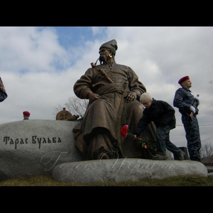 Село Келеберда, Кременчуцький район Полтавська область. Відкриття пам'ятника Тарасу Бульбі.
