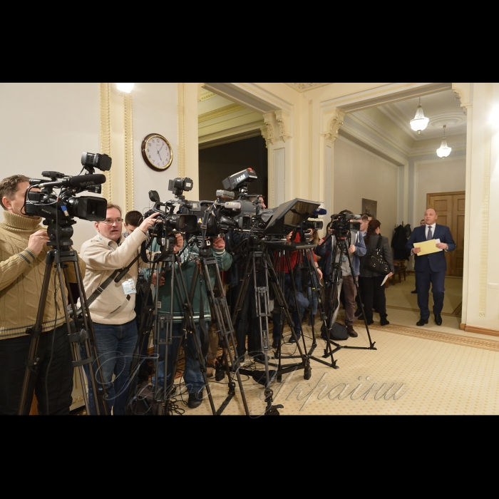 Підхід Голови Верховної Ради України Андрія Парубія до преси з нагоди проведення у Києві ювілейної 50-ї Генеральної Асамблеї ПАЧЕС.