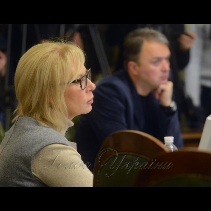 5 лютого 2018 засідання Погоджувальної ради у Верховній Раді України. Людмила Денісова (НФ).