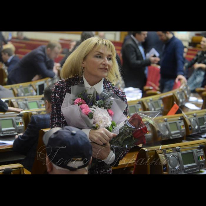 7 лютого 2018 сесія Верховної Ради України. Ірина Луценко БП день народження.