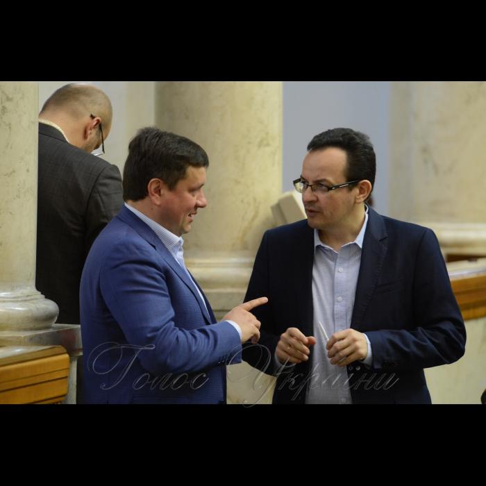 15 березня 2018 сесія Верховної Ради України. Олександр Данченко САМ, Олег Березюк САМ.