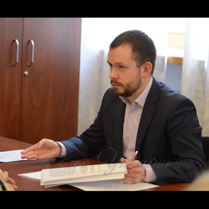 16 березня 2018 особистий прийом громадян народними депутатами України – членами депутатської фракції Політичної партії «Народний фронт» Дмитром Стеценко та Оленою Бойко.