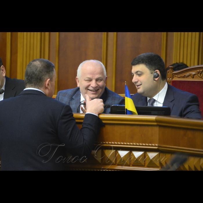 16 березня 2018 сесія Верховної Ради України. Степан Кубів, Володимир Гройсман.