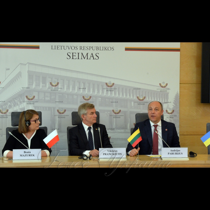 Голова Верховної Ради України Андрій Парубій здійснив візит до Литовської Республіки. Прес-конференція