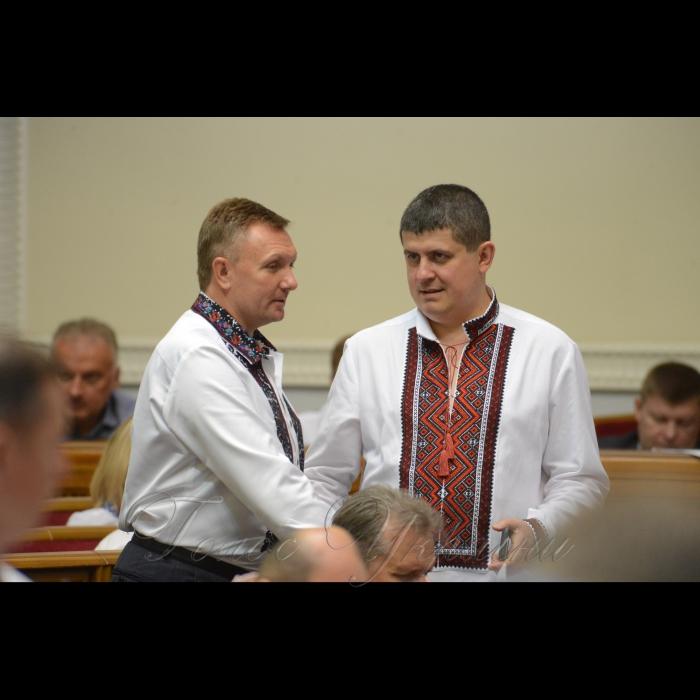 17 мая 2018 сессия Верховной Рады Украины. Александр Горбунов НФ, Максим Бурбак НФ.