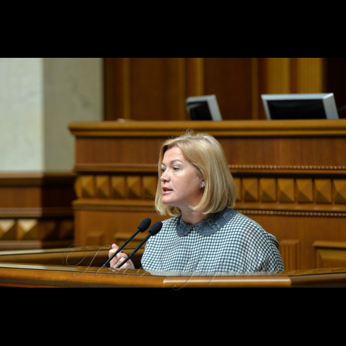 23 травня 2018 сесія Верховної Ради України. Ірина Геращенко.