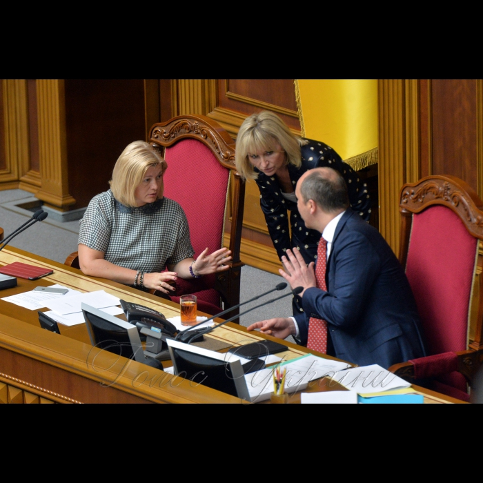 23 травня 2018 сесія Верховної Ради України. Ірина Геращенко, Луценко, Парубій.