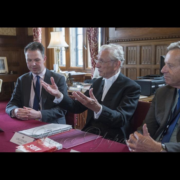 Председатель Верховной Рады Андрей Парубий находится с визитом в Соединенном Королевстве Великобритании и Северной Ирландии. Встреча со спикером Палаты лордов Парламента Великобритании Лордом Фоулером