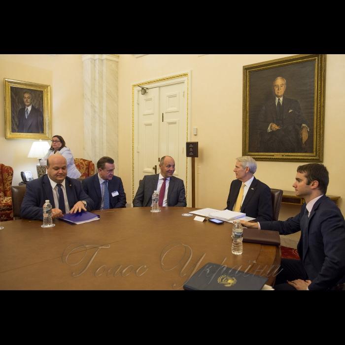 Рабочий визит Председателя Верховной Рады Украины Андрея Парубия в Соединенные Штаты Америки. Встреча с сенатором Робом Портманом, который является членом сенатского Комитета по иностранным делам