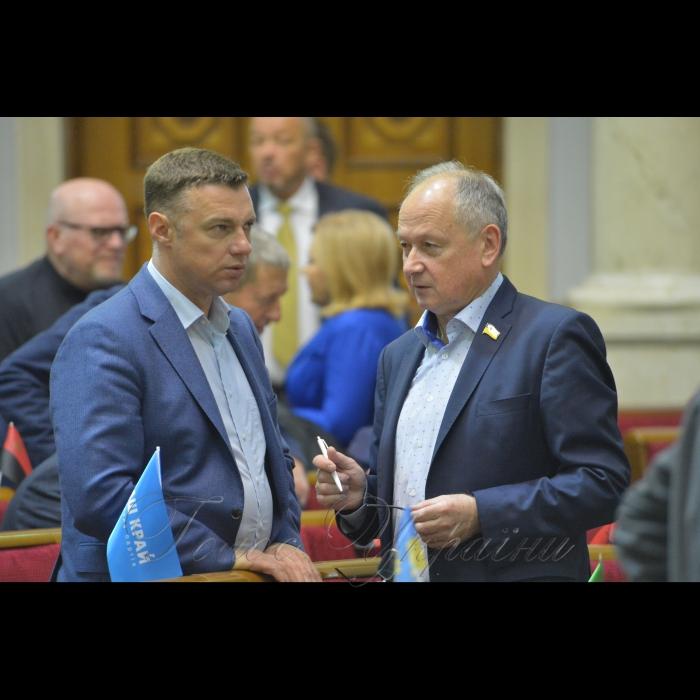 Сесія Верховної Ради України. Валерій Купрій Валентин Дідич позафр.