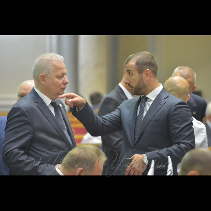 Сесія Верховної Ради України. Віктор Вовк Сергій Рибалка РП