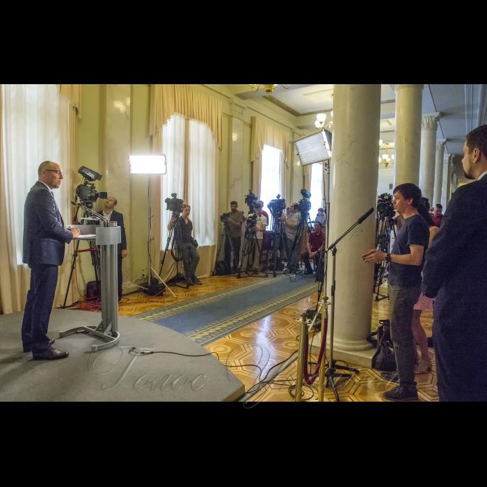3 вересня 2018 брифінг Голови Верховної Ради України Андрія Парубія