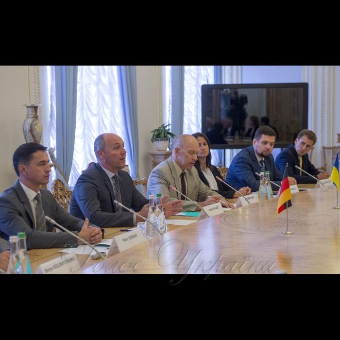 5 вересня 2018 зустріч Голови Верховної Ради України Андрія Парубія з Віце-президентом Німецького Бундестагу Вольфгангом Кубікі.