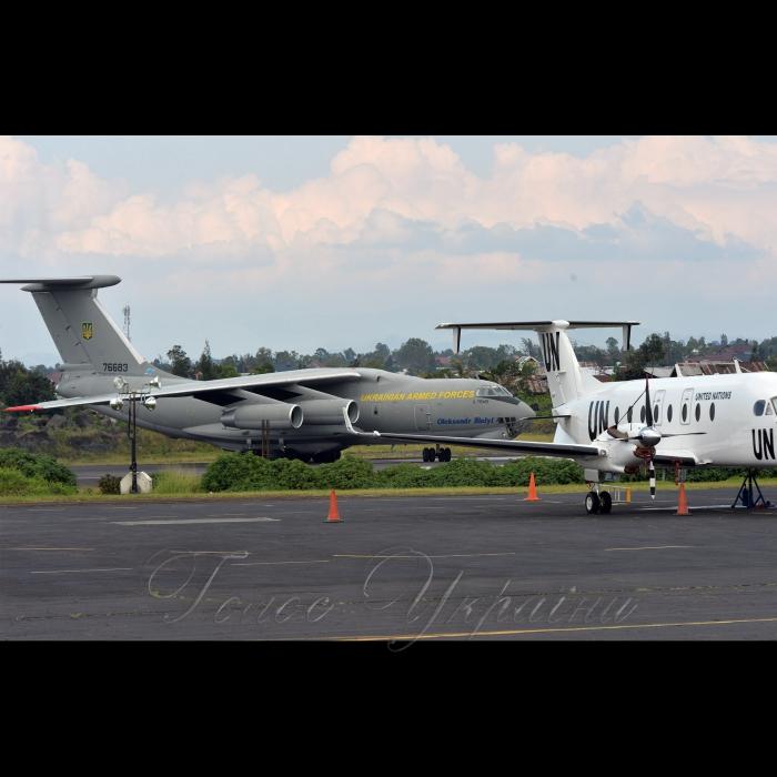28 октября 2018 в Демократической Республике Конго, где несет службу украинський18-й отдельный вертолетный отряд Миссии ООН по стабилизации в ДР Конго завершилась ротация. Ил-76 прибыл в аэропорт Гома, чтобы забрать на родину военных.