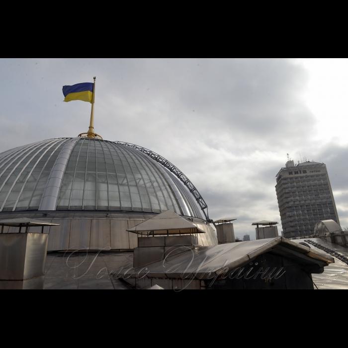 2 листопада 2018 купол над приміщенням Верховної Ради України.