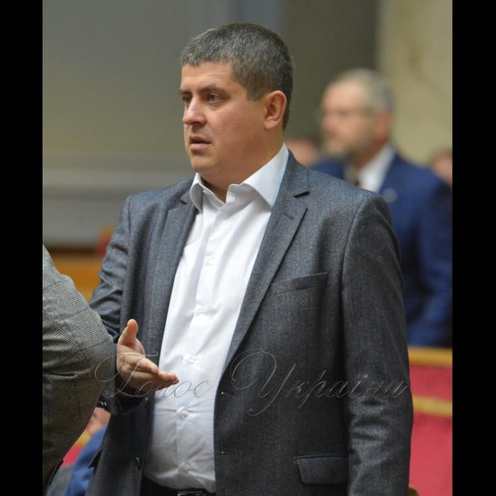 7 листопада 2018 пленарне засідання Верховної Ради України.  Максим Бурбак НФ.