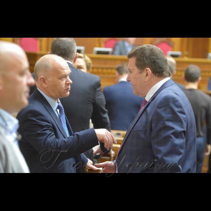7 листопада 2018 пленарне засідання Верховної Ради України.  Михайло Довбенко БП, Сергій Куніцин БП.