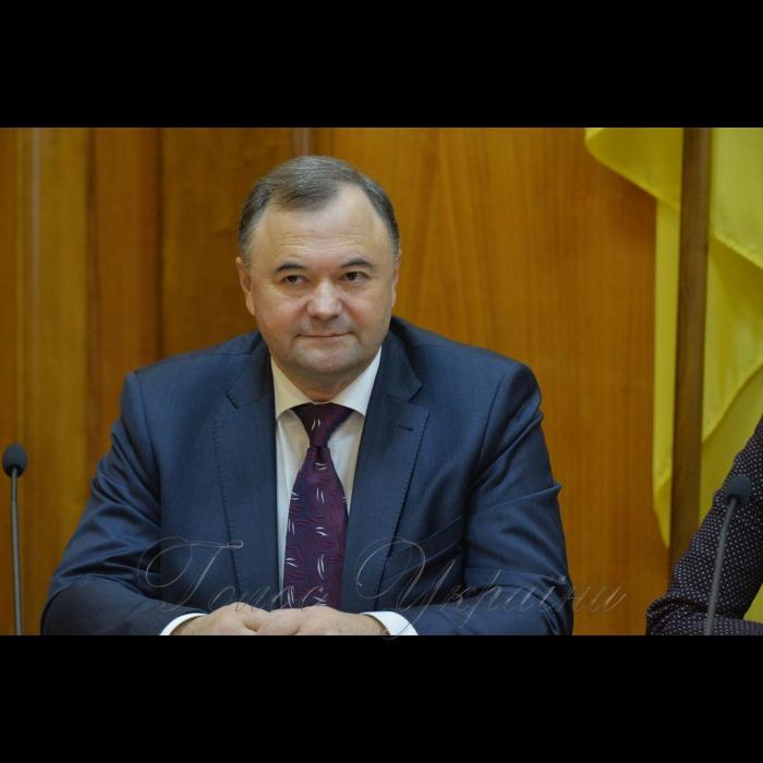 13 листопада 2018 пресконференція у ЦВК присвячена 21-річчю з дня створення Центральної виборчої комісії. Член ЦВК Олег Конопольський.