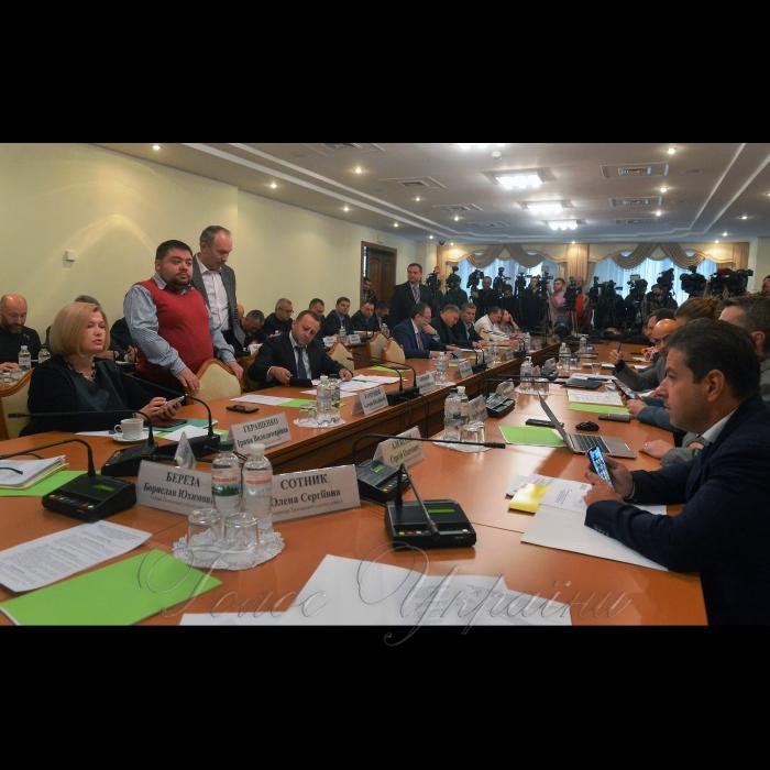Засідання тимчасової слідчої комісії Верховної Ради з розслідування вбивства активістки Катерини Гандзюк.