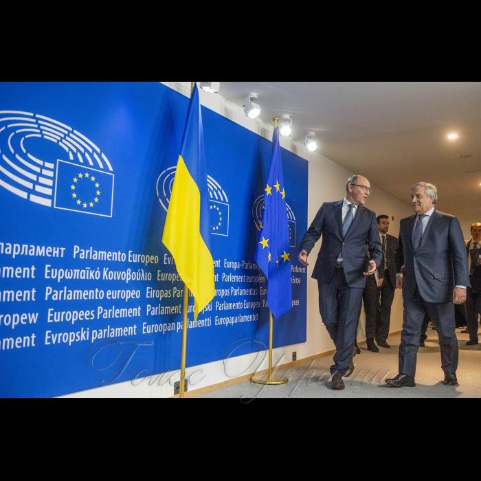 27 листопада 2018 робочий візит Голови Верховної Ради України Андрія Парубія до інституцій Європейського Союзу, НАТО та Королівства Бельгія. Зустріч Голови Верховної Ради України А.Парубія з Президентом Європейського Парламенту Антоніо Таяні.