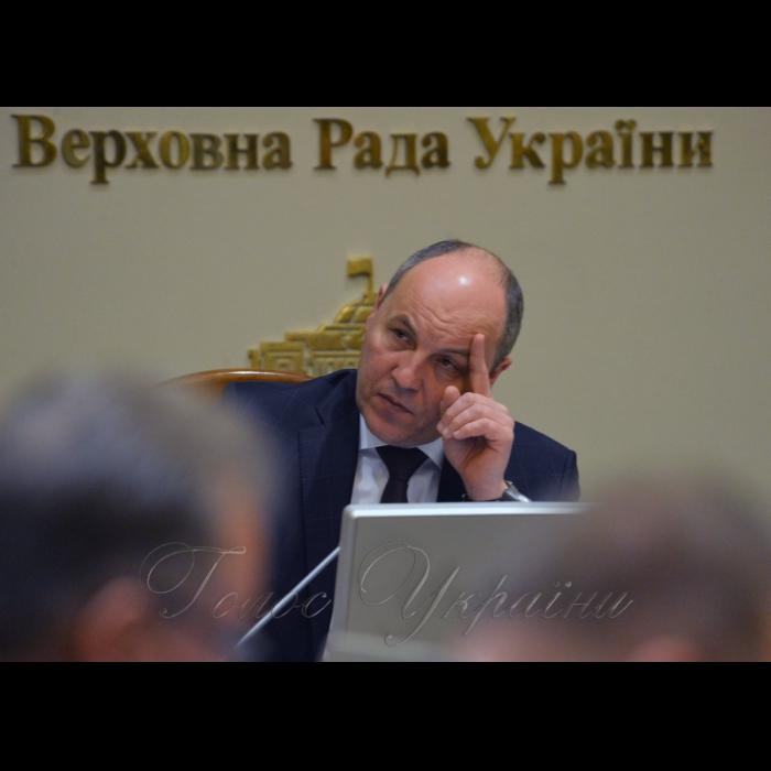 4 лютого 2019 погоджувальна Ради у Верховній Раді України. Андрій Парубій голова ВРУ.