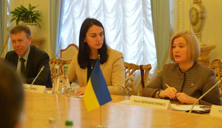 6 февраля 2019 встреча 1-го заместителя Председателя Верховной Рады И. Геращенко и членов Комитета по иностранным делам с делегацией Национального Собрания Ливанской Республики.