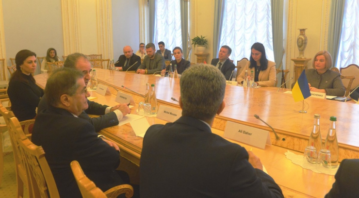 6 лютого 2019 зустріч 1-го заступника Голови Верховної Ради І. Геращенко та членів Комітету у закордонних справах з делегацією Національних Зборів Ліванської Республіки.