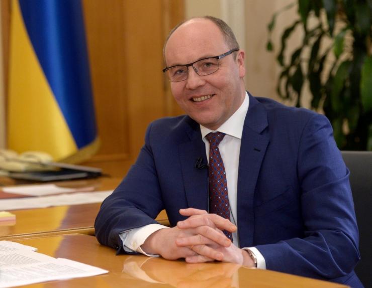 8 лютого 2019 інтерв'ю Голови ВР України Андрія Парубія парламенскому телеканалу