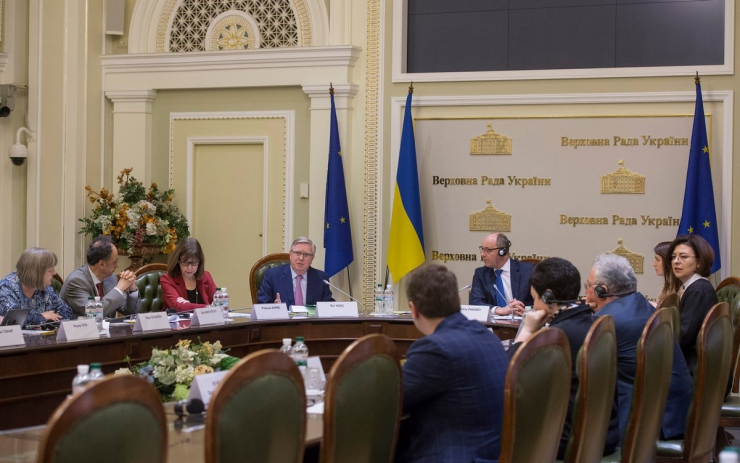 15 лютого 2019 Голова Верховної Ради України Андрій Парубій взяв участь у «круглому столі» на тему: «Ефективна реалізація Угоди про асоціацію між Україною та ЄС як основний елемент європейської інтеграції України».