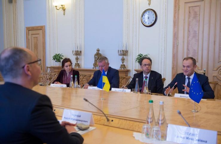 19 лютого 2019 зустріч Голови Верховної Ради України Андрія Парубія з Президентом Європейської Ради Д.Туском.