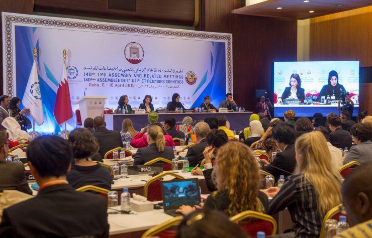 6 квітня 2019 візит Голови Верховної Ради України Андрія Парубія до Держави Катар для участі у 140-й Асамблеї Міжпарламентського Союзу. Форум жінок-парламентарів Міжпарламентського союзу.