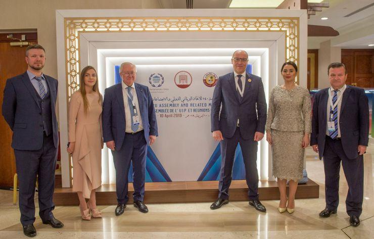 6 квітня 2019 візит Голови Верховної Ради України Андрія Парубія до Держави Катар для участі у 140-й Асамблеї Міжпарламентського Союзу. Участь Голови Верховної Ради України Андрія Парубія в Інавгураційній церемонії відкриття 140-ї Асамблеї Міжпарламентського Союзу.