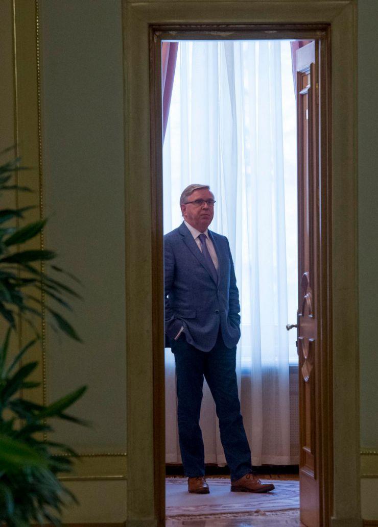 Зустріч А. Парубія з колишнім Президентом Європейського парламенту Петом Коксом