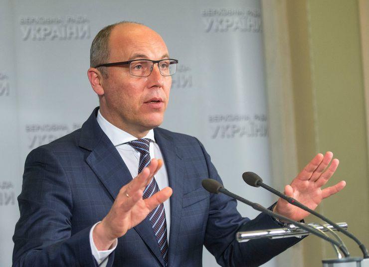 Брифінг Голови Верховної Ради України Андрія Парубія