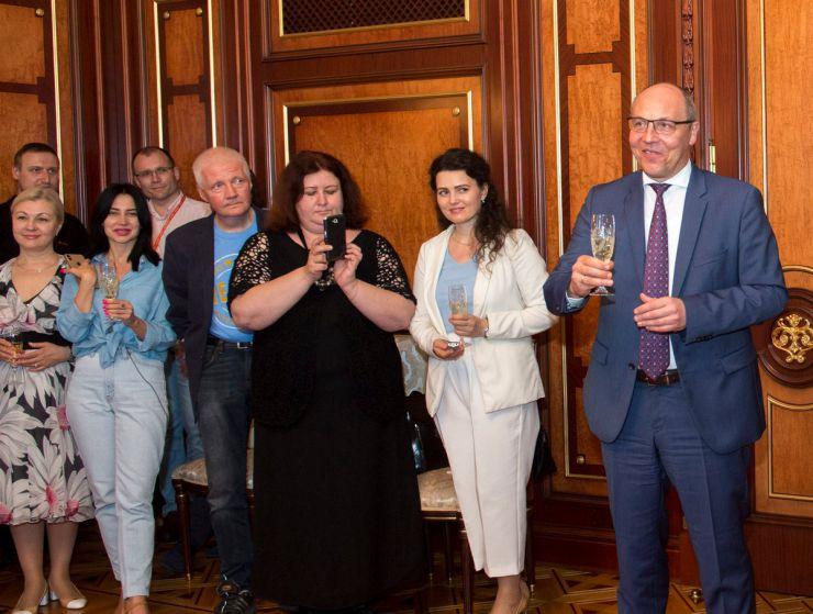 6 червня 2019 Голова Верховної Ради України Андрій Парубій привітав журналістів з професійним святом.