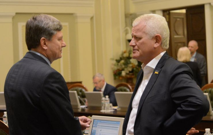 1 липня 2019 погоджувальна Рада у ВР. Артур Герасимов, Олександр Співаковський БП.