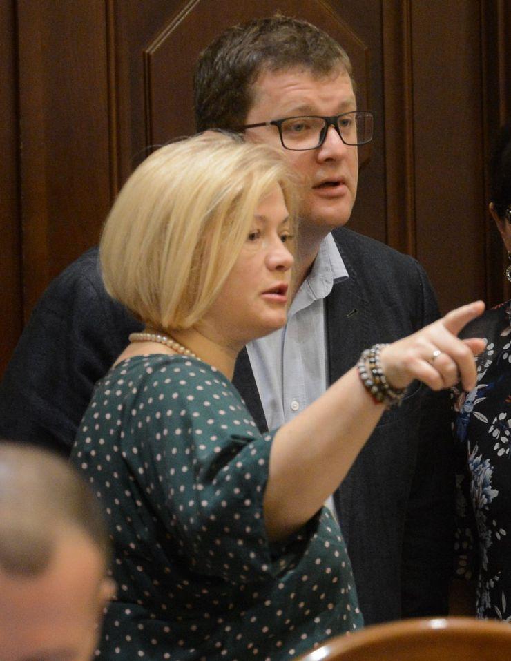 1 липня 2019 погоджувальна Рада у ВР. Ірина Геращенко, Володимир Ар'єв БП.