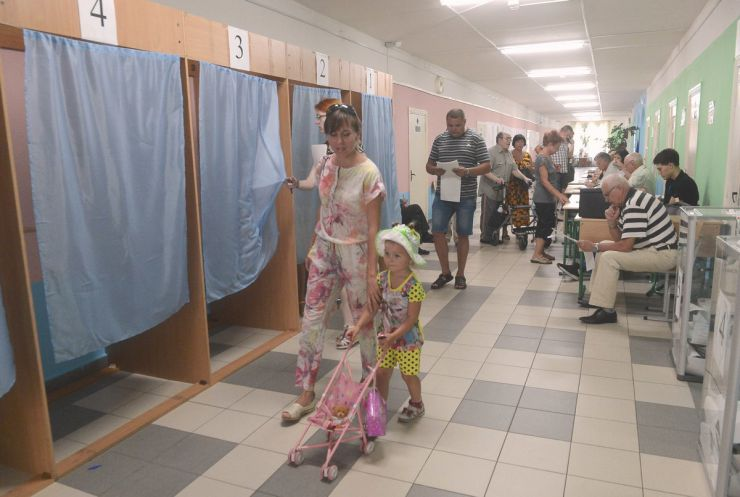 21 липня 2019 позачергові парламентські выбори. Київ, ДВК 800129