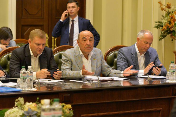 Засідання депутатської робочої групи під керівництвом Дмитра Разумкова з підготовки сесії Верховної Ради. Рабинович