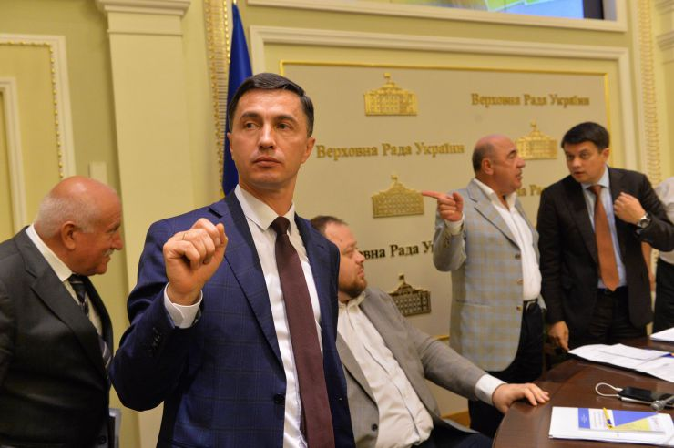 Засідання депутатської робочої групи під керівництвом Дмитра Разумкова з підготовки сесії Верховної Ради. Боднар