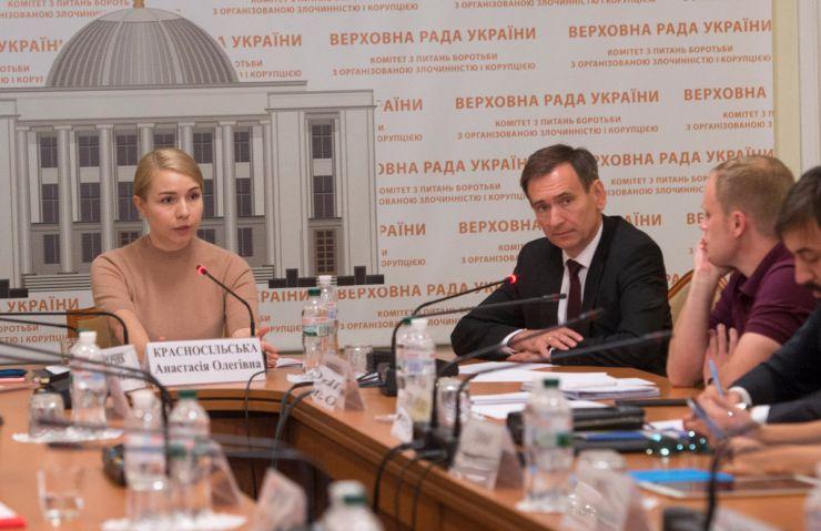 4 вересня 2019 засідання Комітету Верховної Ради України з питань антикорупційної політики.