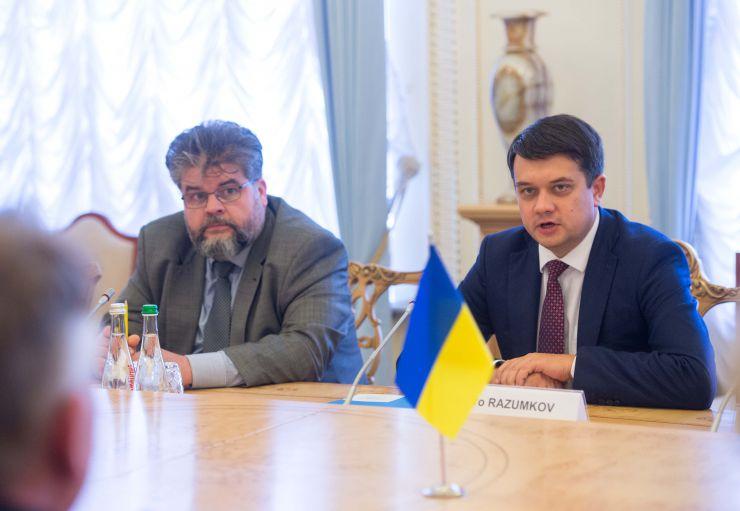 Председатель Верховной Рады Украины Дмитрий Разумков встретился с Министром иностранных дел Королевства Нидерланды Стефаном Блоком