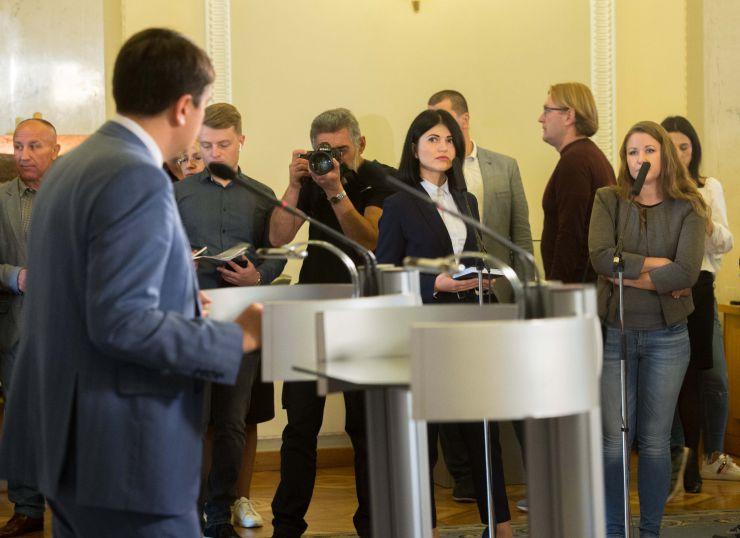 Брифинг Председателя Верховной Рады Украины Дмитрия Разумкова по итогам первых 50 дней работы парламента ИХ созыва