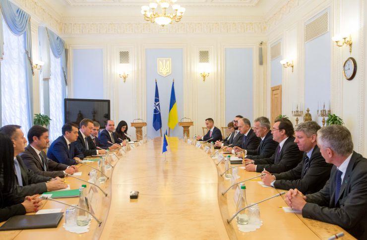 Зустріч Голови Верховної Ради України Дмитра Разумкова з Генеральним Секретарем НАТО Йенсом Столтенбергом